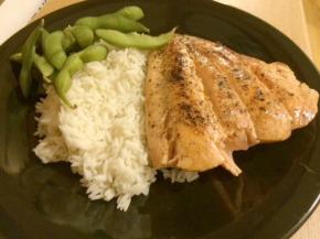 Easy Stovetop Salmon withEdamame