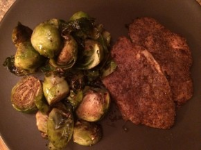 Dijon Chicken with Roasted Balsamic BrusselsSprouts